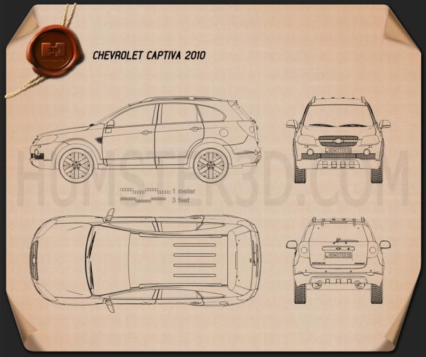 Chevrolet Captiva 2010 Blueprint