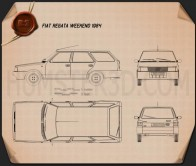 Fiat Regata Weekend 1984 Blueprint