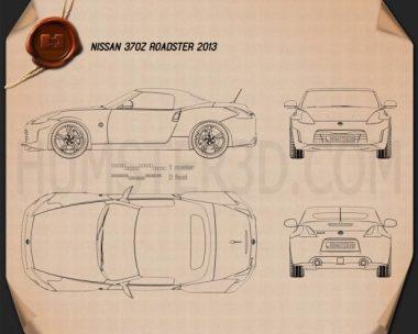 Nissan 370Z roadster 2013 Blueprint