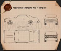 Nissan Skyline (C210) GT Coupe 1977 Blueprint