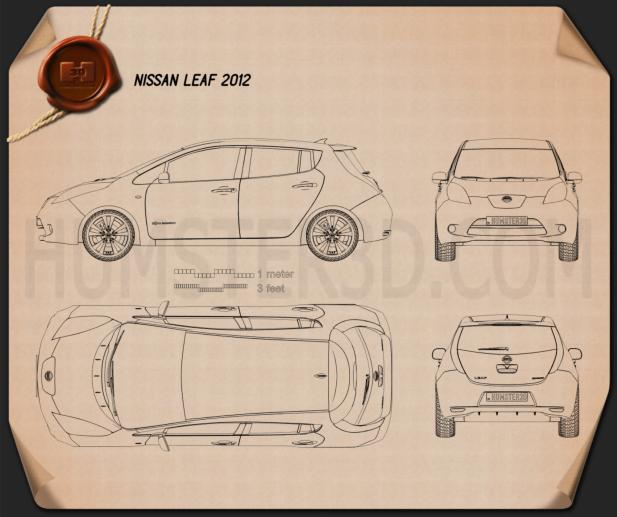 Nissan Leaf 2013 Blueprint