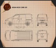 Nissan NV200 combi 2011 Blueprint