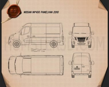 Nissan NV400 Panel Van 2010 Blueprint