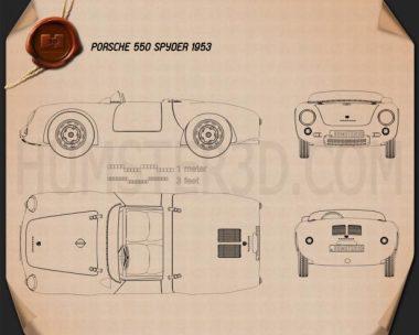 Porsche 550 spyder 1953 Blueprint
