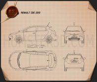 Renault Zoe 2013 Blueprint