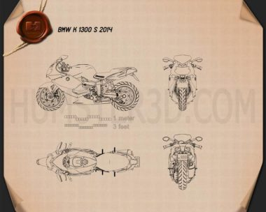 BMW K 1300 S 2014 Blueprint