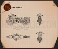 BMW R32 1923 Blueprint
