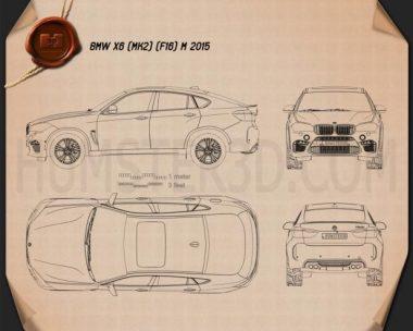 BMW X6 M 2014 Blueprint
