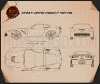 Chevrolet Corvette Stingray (C7) Coupe 2014 Blueprint