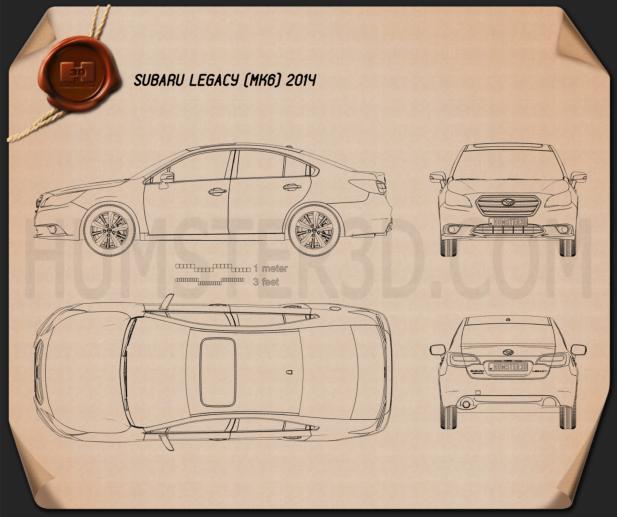 Subaru Legacy 2014 Blueprint