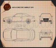 Audi A3 Cabriolet 2014 Blueprint