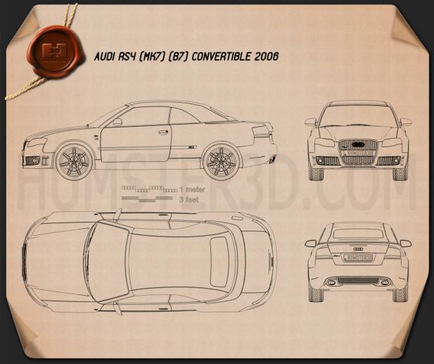Audi RS 4 convertible 2006 Blueprint
