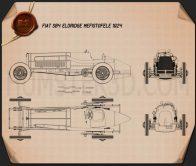 Fiat SB4 Eldridge Mefistofele 1924 Blueprint