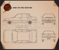 Honda Civic sedan 1983 Blueprint