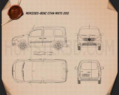 Mercedes-Benz Citan Mixto 2012 Blueprint