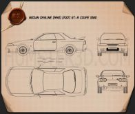 Nissan Skyline (R32) GT-R coupe 1989 Blueprint