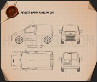 Peugeot Bipper Panel Van 2011 Blueprint