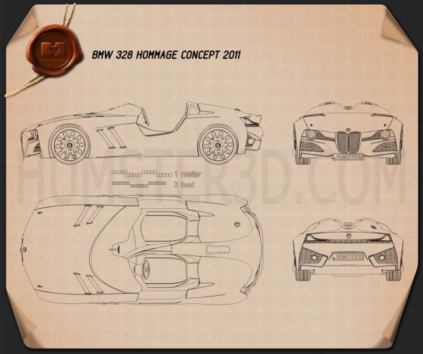 BMW 328 Hommage 2011 Blueprint