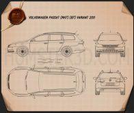 Volkswagen Passat (B7) variant 2011 Blueprint