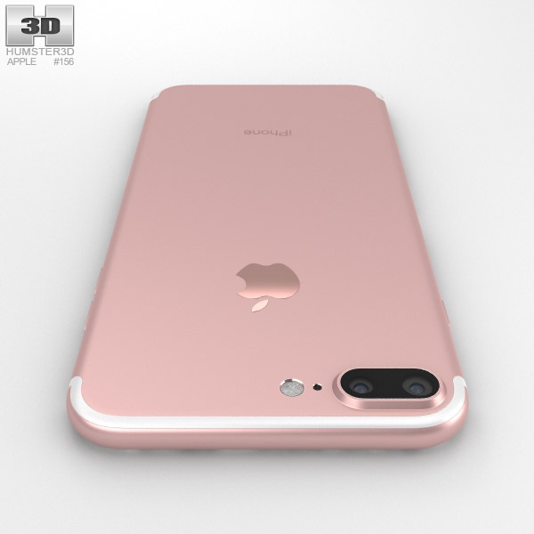 Apple Iphone 7 Plus Rose Gold 3d Model Electronics On Hum3d