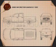 Dodge Ram 1500 Quad Cab SLT 2002 Blueprint