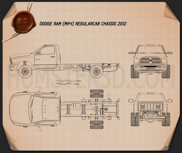 Dodge Ram Regular Cab Chassis 2012 Blueprint