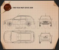 Ford Focus estate 2008 Blueprint