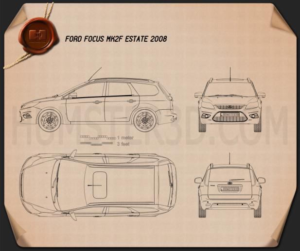 Ford Focus estate 2008 Blueprint