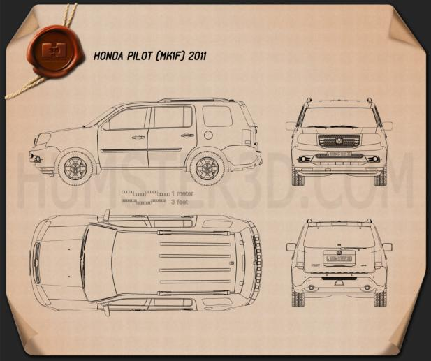 Honda Pilot 2011 Blueprint