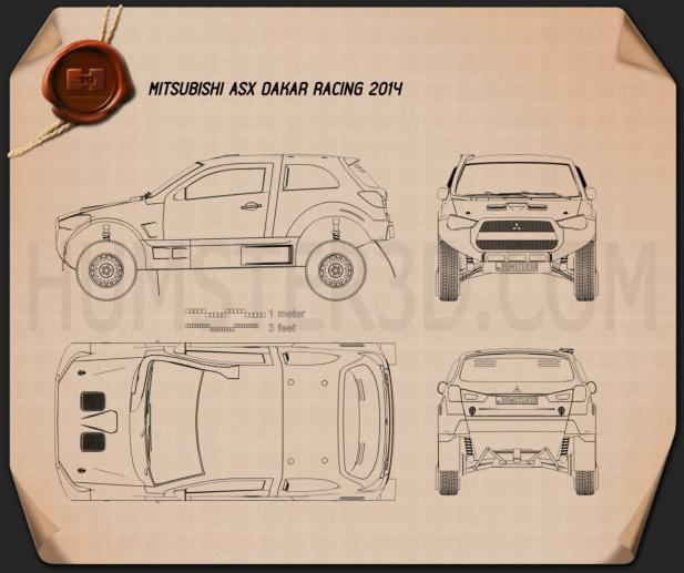 Mitsubishi ASX Dakar Racing 2014 Blueprint