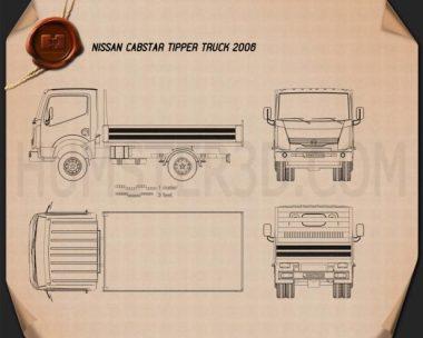 Nissan Cabstar Tipper Truck 2006 Blueprint