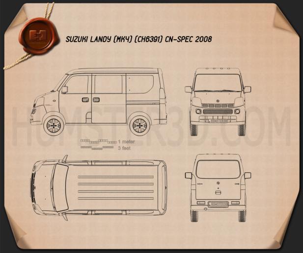 Suzuki Landy (CN) 2008 Blueprint