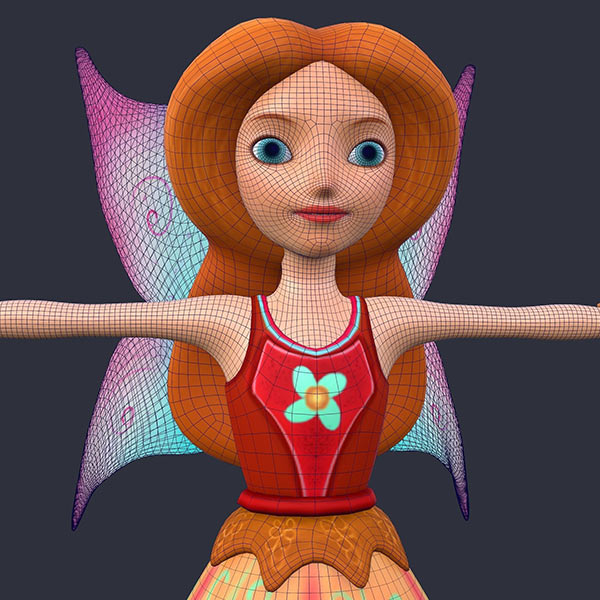 Fairy Character low poly Download Free 3D models