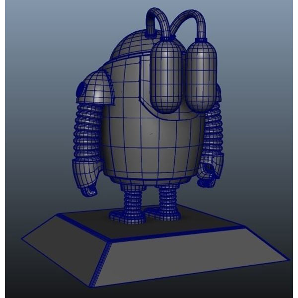 Robot Character low poly Download Free 3D models