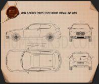 BMW 1 Series (F21) 3-door Urban Line 2015 Blueprint