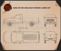 Dodge Ram 1500 Regular Cab Laramie 140-inch Box 2008 Blueprint