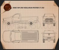 Dodge Ram 2500 Regular Cab ST 6-foot 4-inch Box 2012 Blueprint