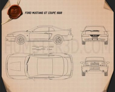 Ford Mustang GT coupe 1998 Blueprint