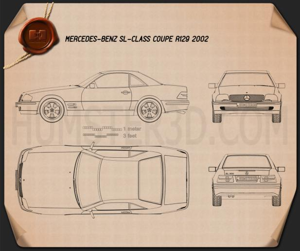 Mercedes-Benz SL-class (R129) 2002 Blueprint