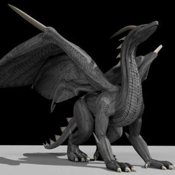 Black Dragon Rigged 3d model