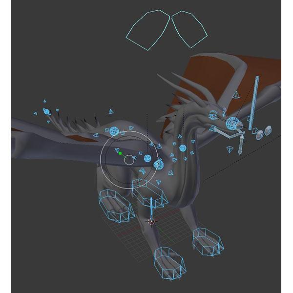 Black Dragon Rigged Download Free 3D models