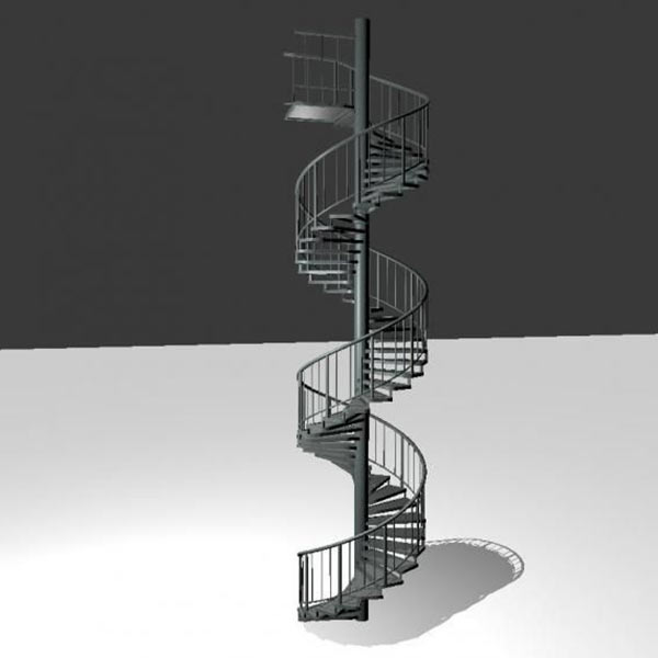 Outdoor Spiral Staircase Download Free 3D models