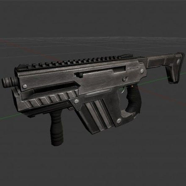 Submachine Gun M24 R 3d model