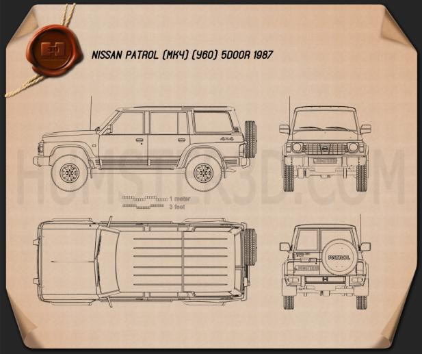 Nissan Patrol (Y60) 5-door 1987 Blueprint