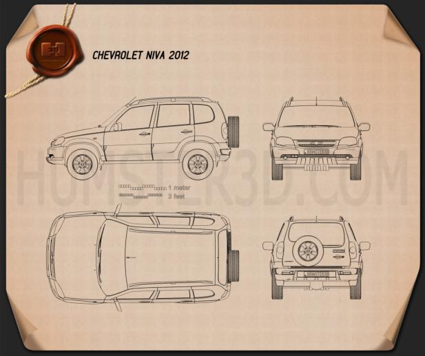 Chevrolet Niva 2012 Blueprint