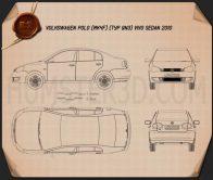 Volkswagen Polo Vivo sedan 2010 Blueprint