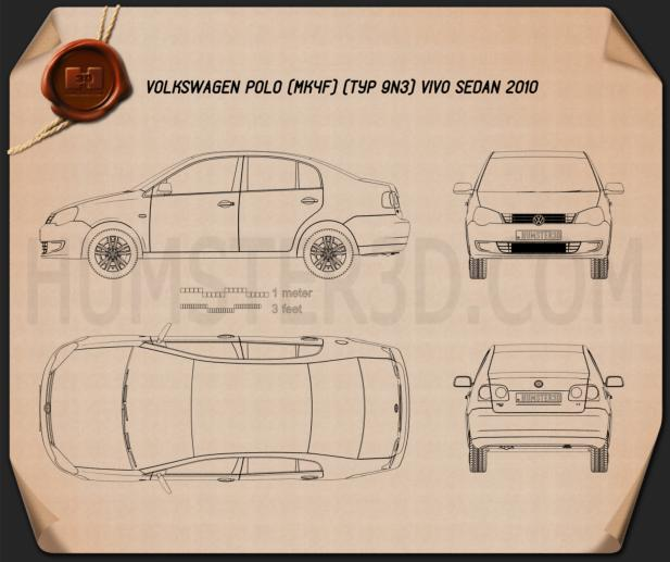 Volkswagen Polo Vivo sedan 2010 Blueprint
