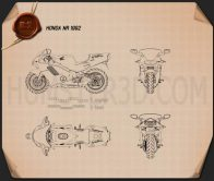 Honda NR 1992 Blueprint