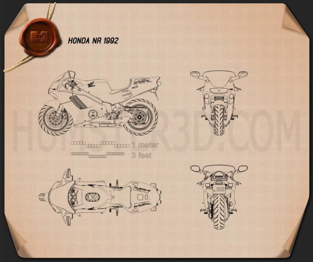 Honda NR 1992 Blueprint