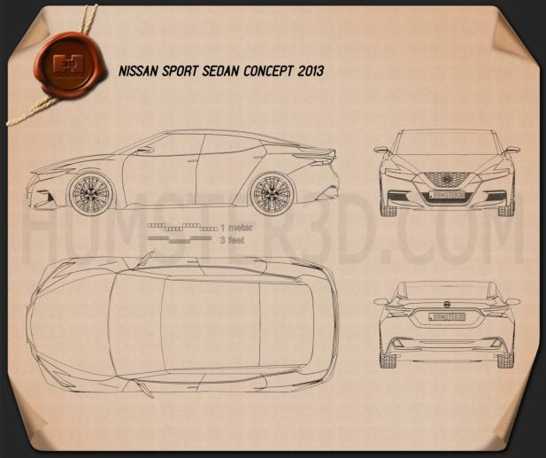 Nissan Sport Sedan 2013 Blueprint